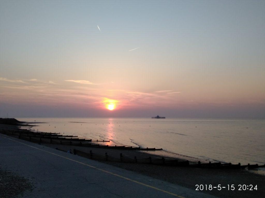 Herne Bay im Sonnenuntergang