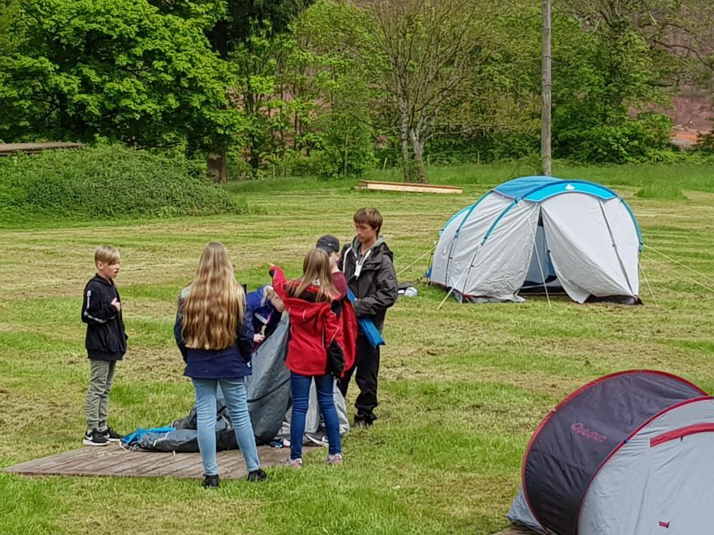 Aufbau Zeltlager